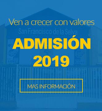 Admision 2019 Colegio San Francisco de La Selva