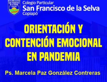 Orientación y contención emocional en pandemia.