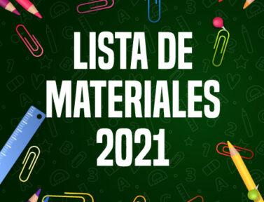 Listas de Materiales 2021